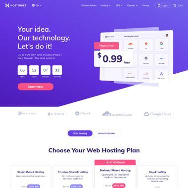 hostinger website استضافة